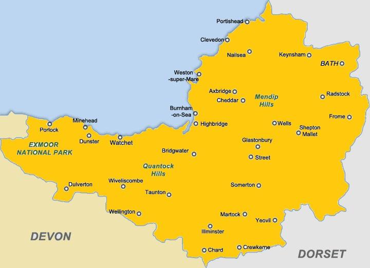 somerset map